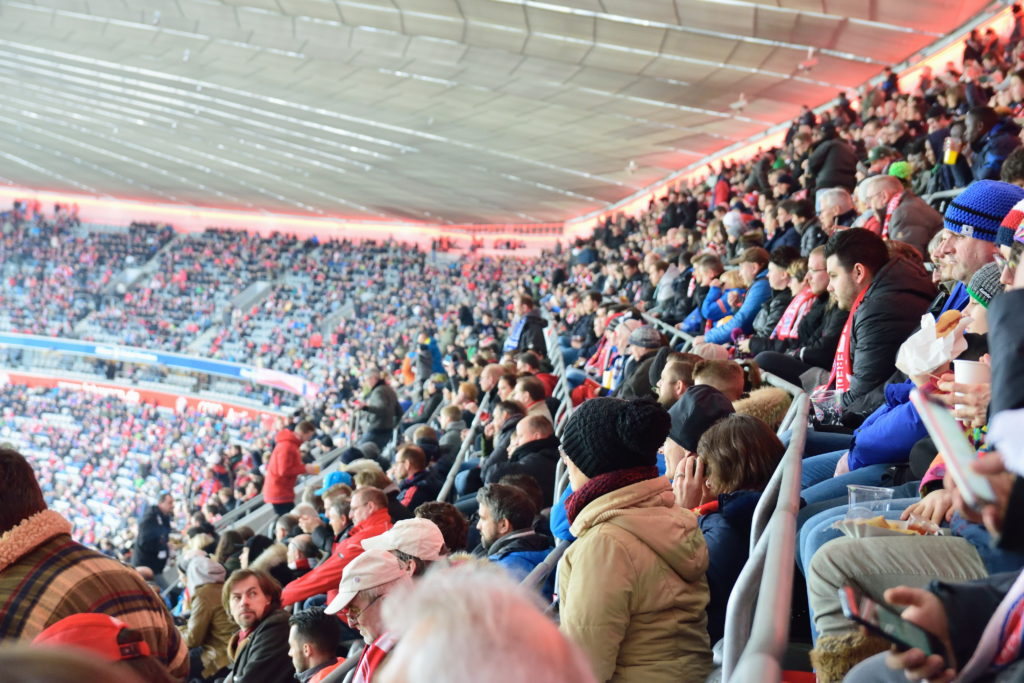 ドイツサッカー客席