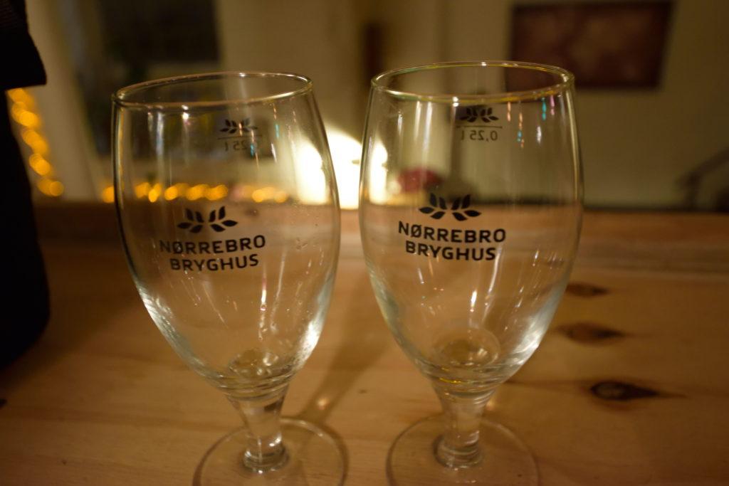 空のビールグラス