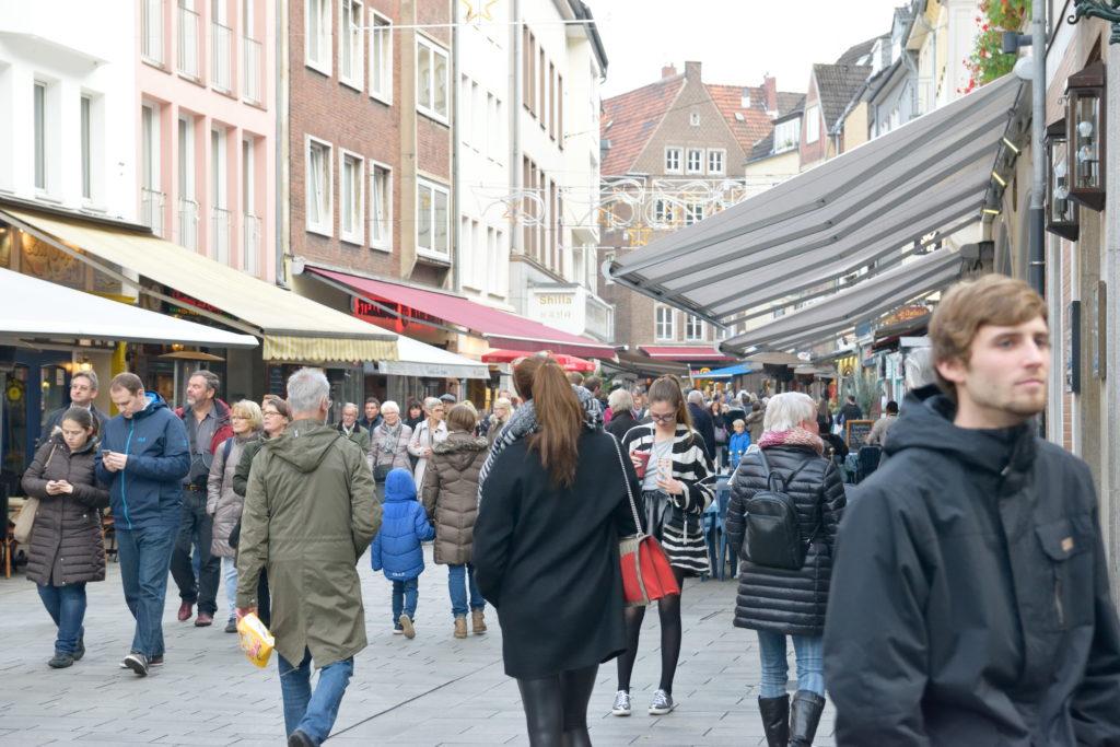 デュッセルドルフの中心街の様子