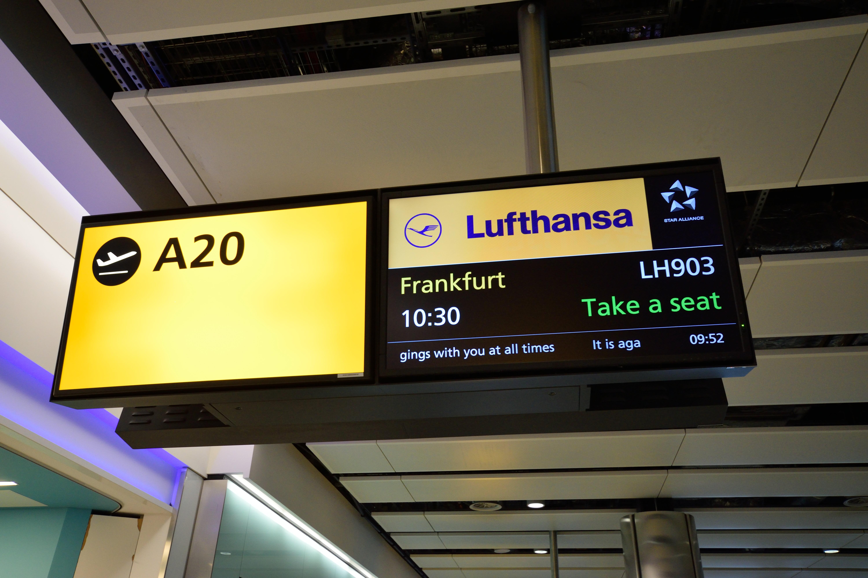 ロンドンからドイツへと帰国 LHR→FRA渡航記(旅行記Day10)