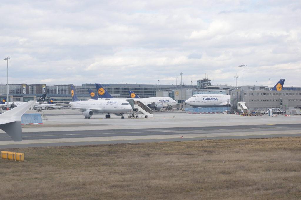 フランクフルト空港のルフトハンザ機