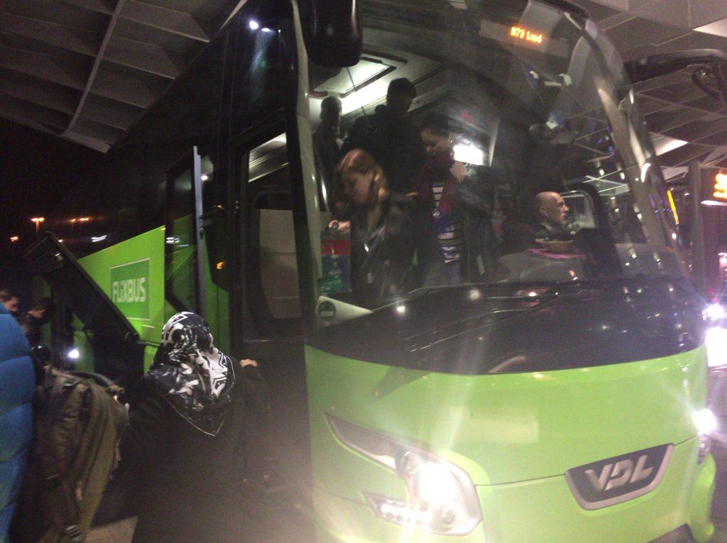 コペンハーゲン行きFlix Bus