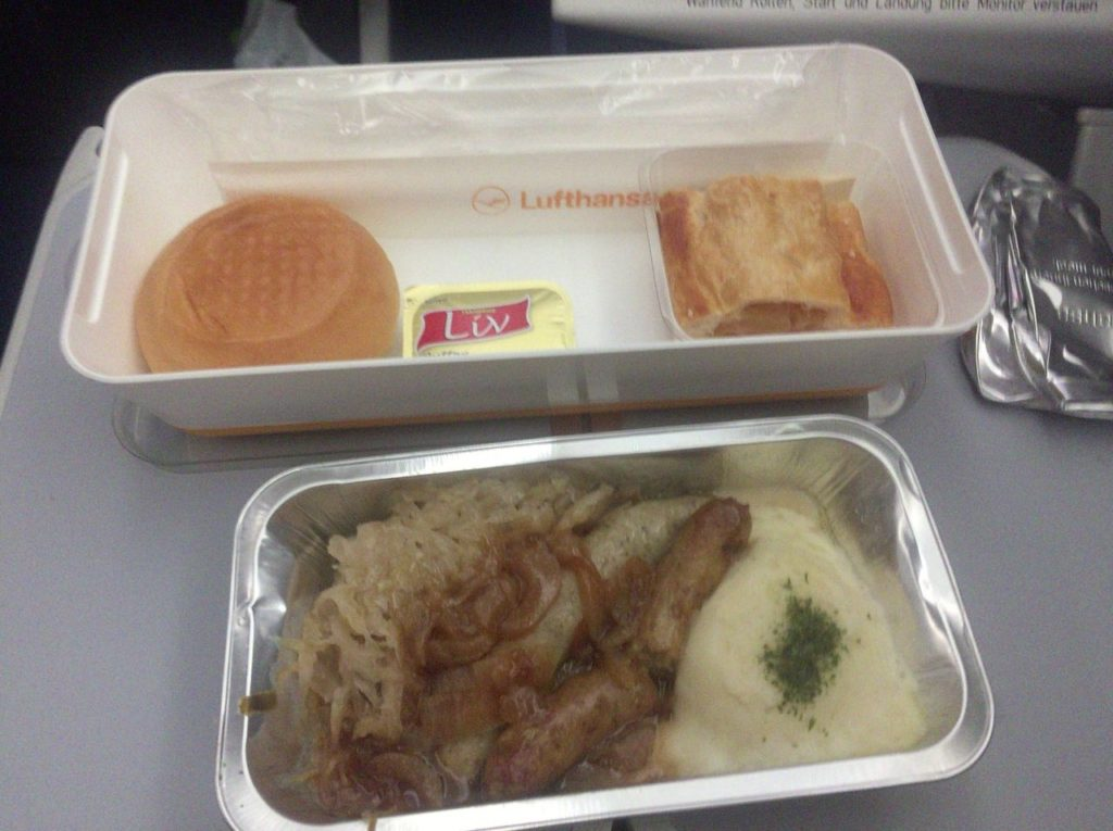 機内食、夕食