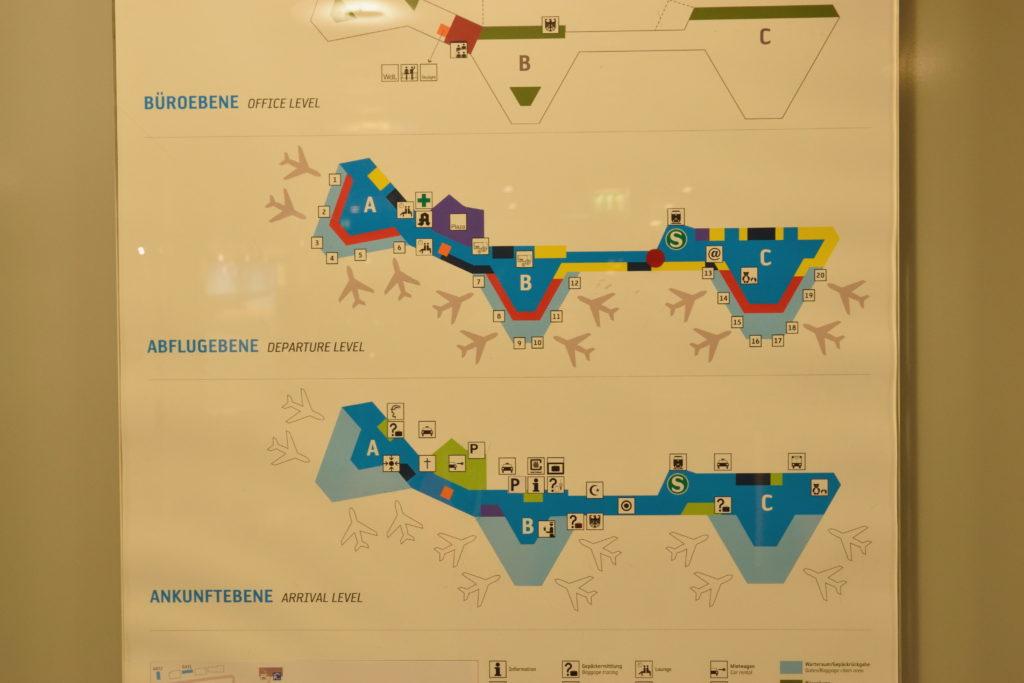 ハノーファー空港 館内地図