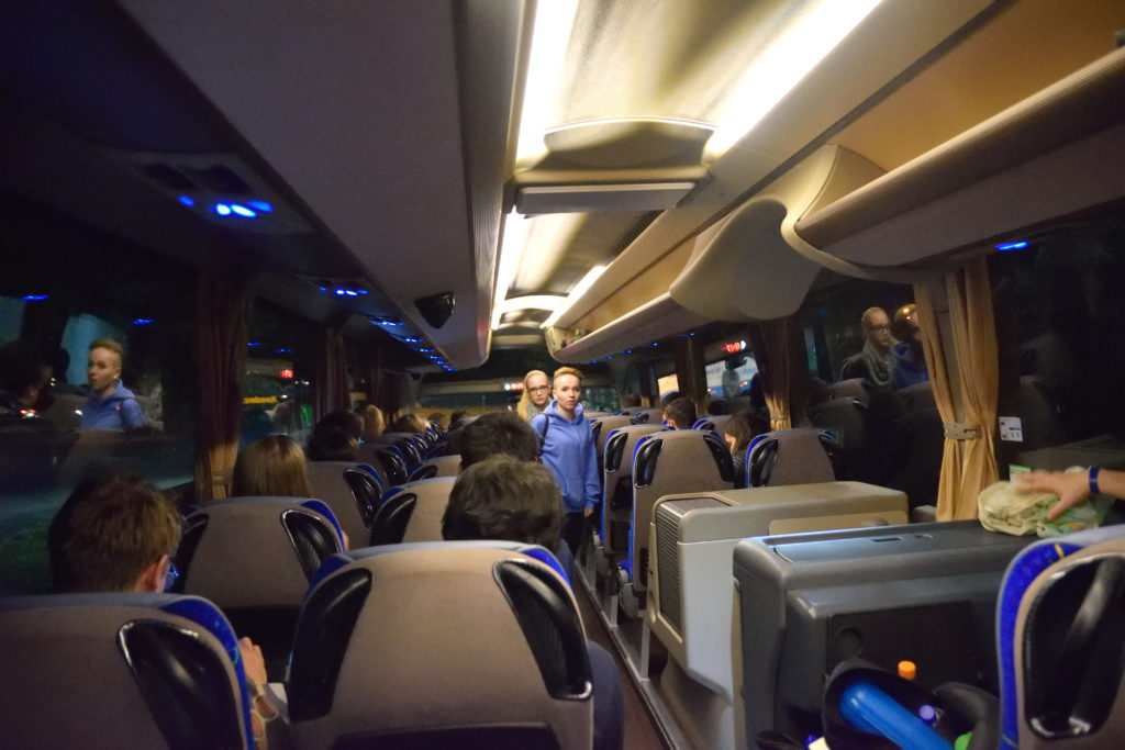 Flix Bus 車内の様子