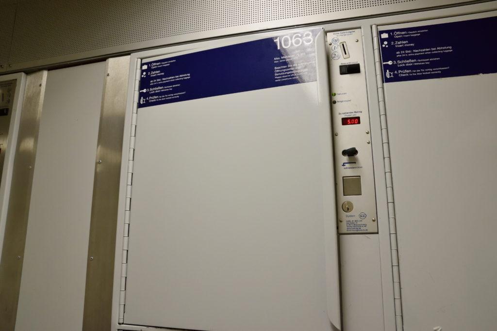 ハノーファー駅の、大きなコインロッカー
