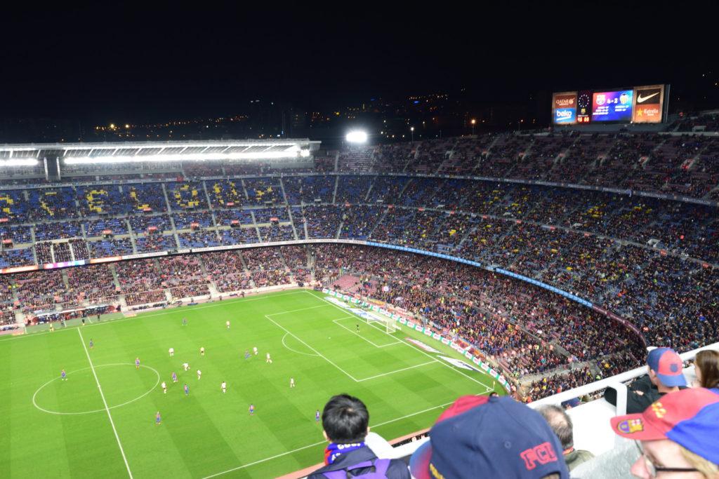 バルセロナの試合中の様子