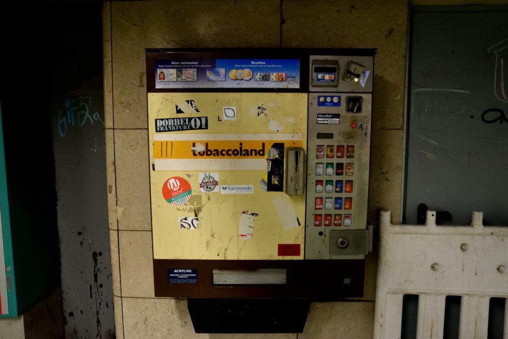 ドイツのたばこ販売機