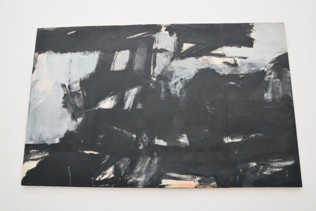 黒基調の現代絵画