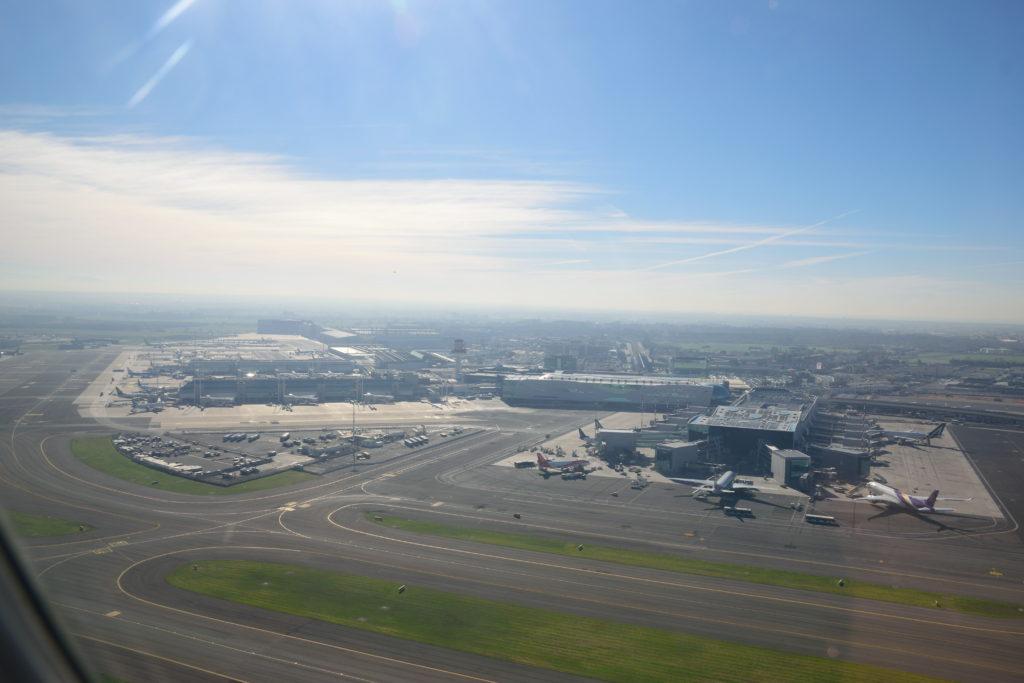 ローマ空港から上昇中