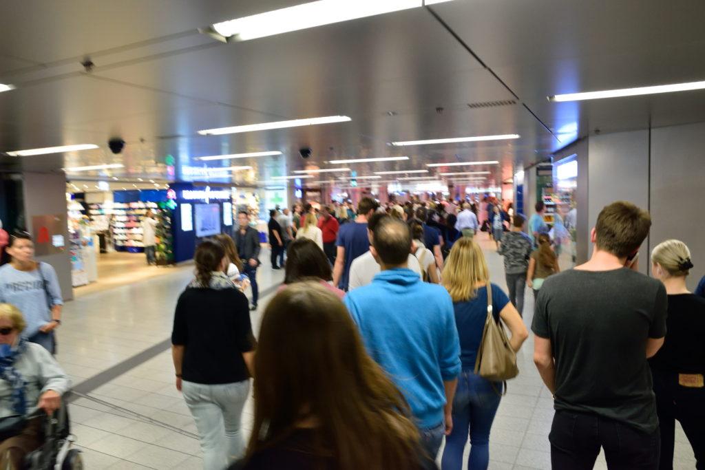 ミュンヘン中央駅の地下道