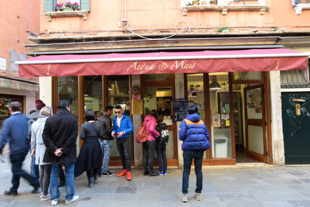 ベネチアのファストフード店