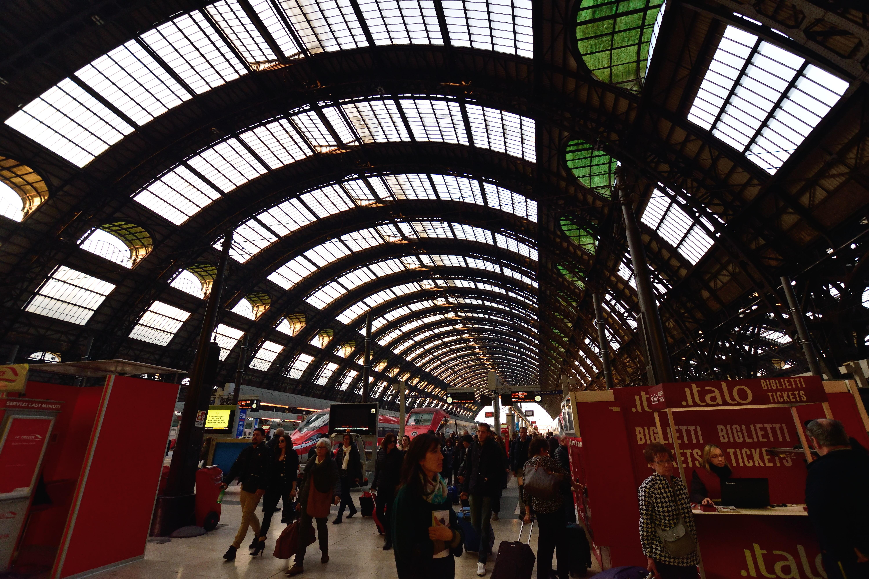 ミラノ中央駅の様子