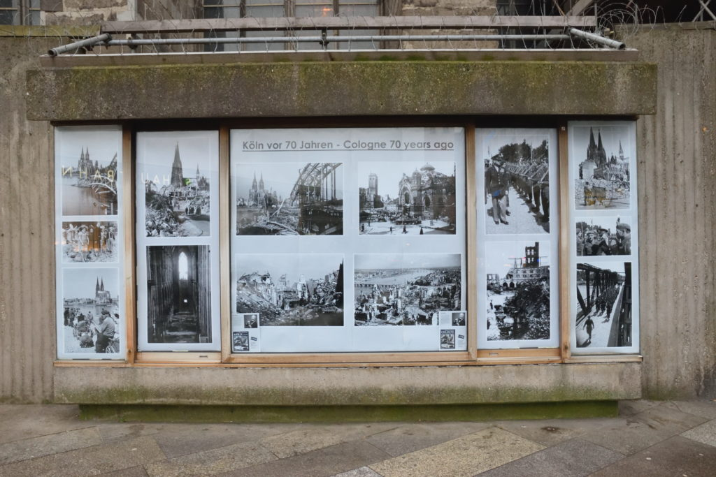 戦前のケルンの様子の展示