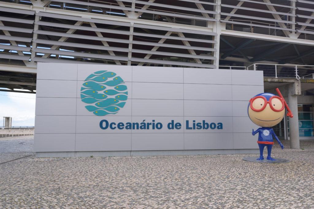 リスボン水族館の入口看板