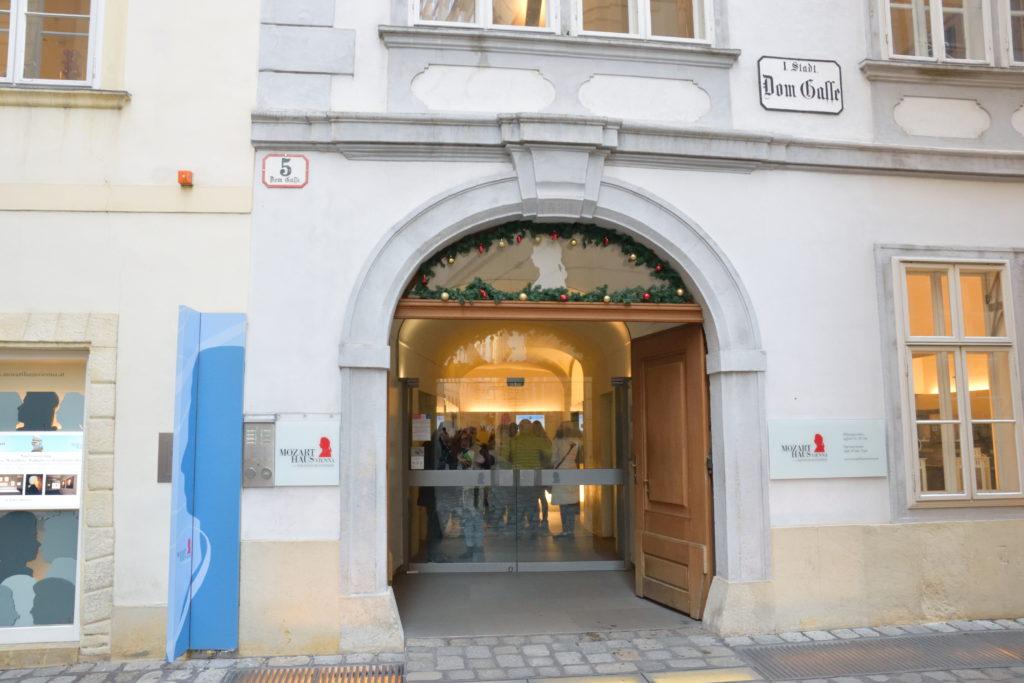 モーツァルトハウスの入口