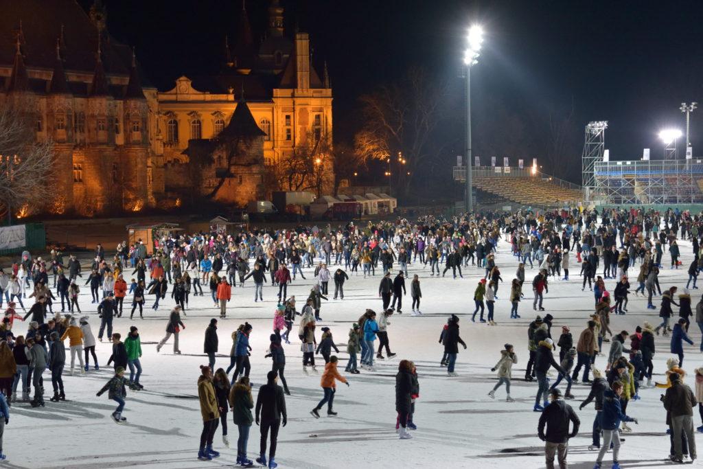 ブダペストのスケート広場