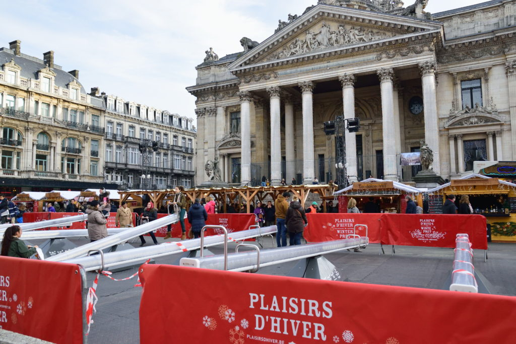 ブリュッセルのクリスマスマーケットのアトラクション