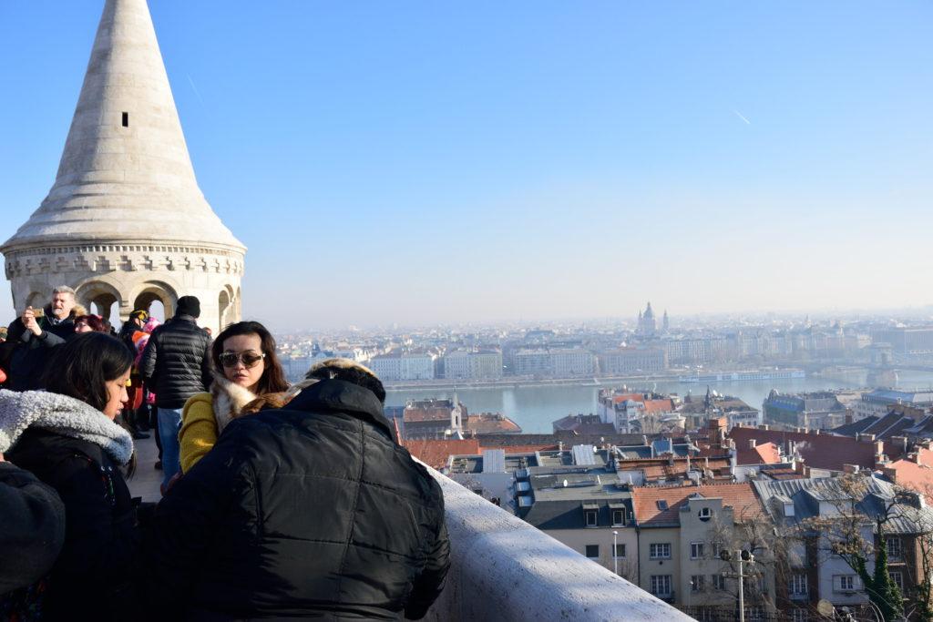 城の上からのブダペスト市街の眺め