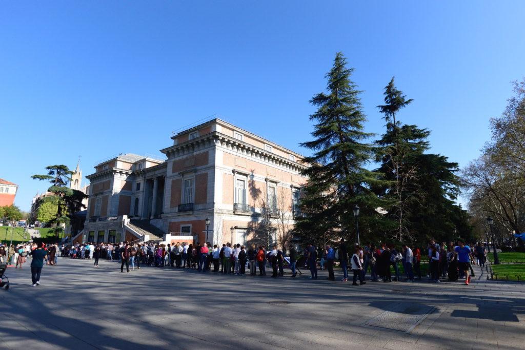 プラド美術館の行列
