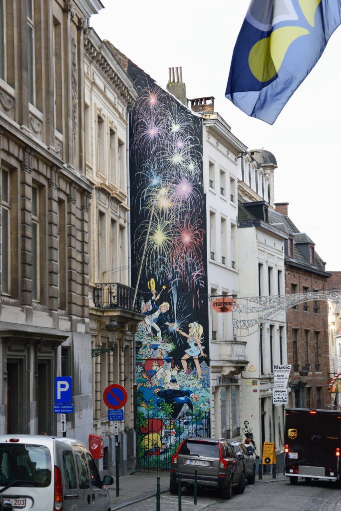 ブリュッセルの壁画