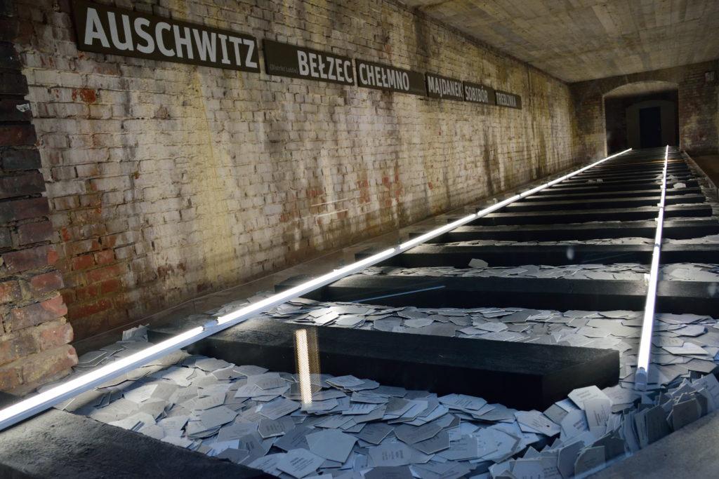 アウシュビッツの犠牲者に関する展示