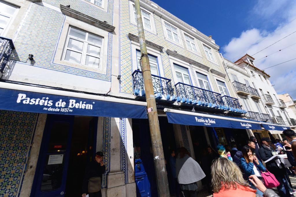ベレム地区の人気カフェの外観