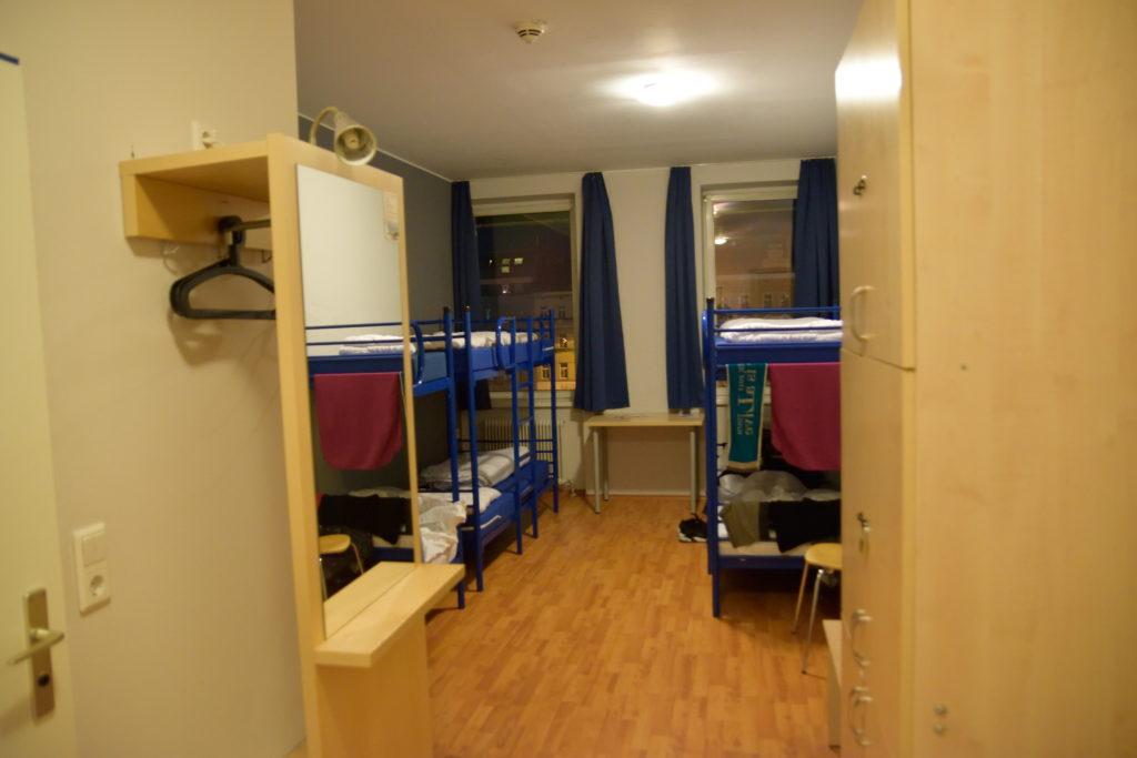ウィーンのA&Oホステルのドミトリー部屋