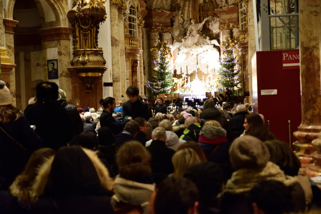 ウィーン、カールス教会でのクラシック公演