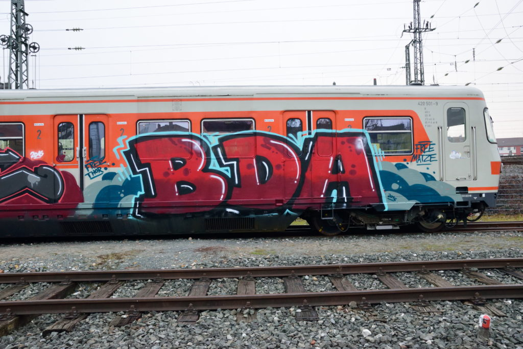 落書きされたドイツ鉄道