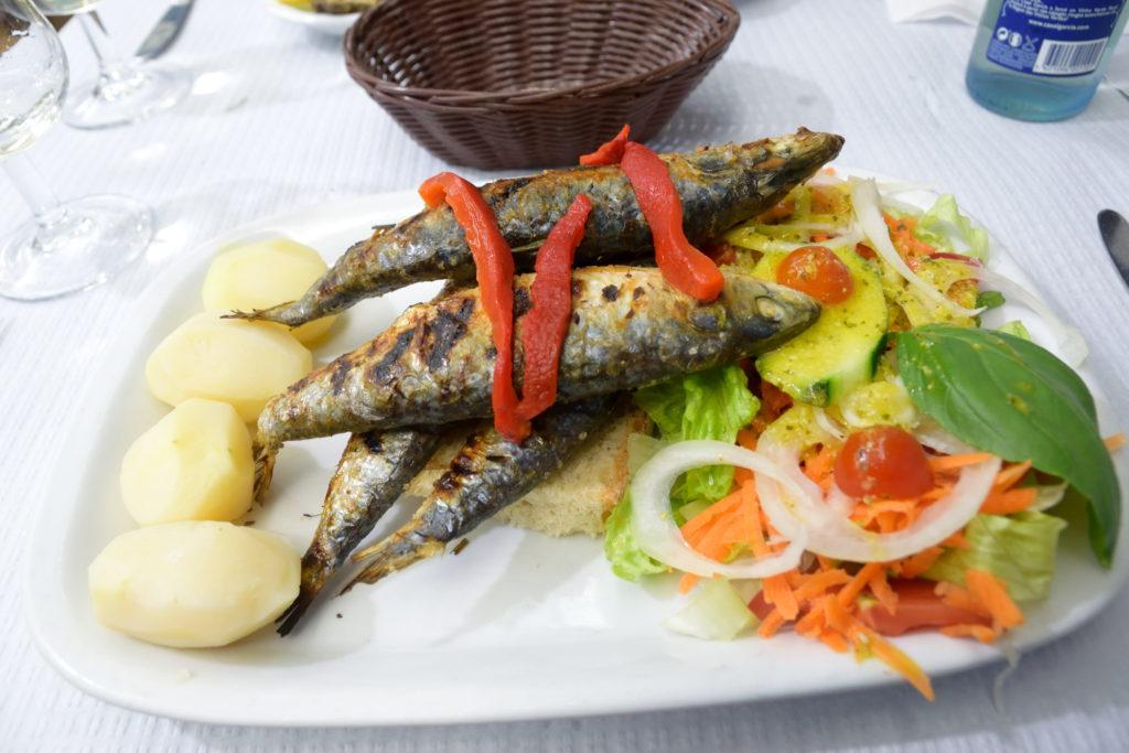 ポルトガル料理、イワシの塩焼き