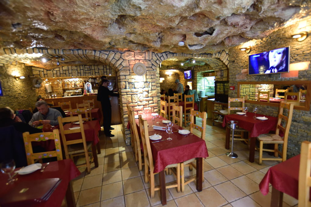 シントラのレストランの内装