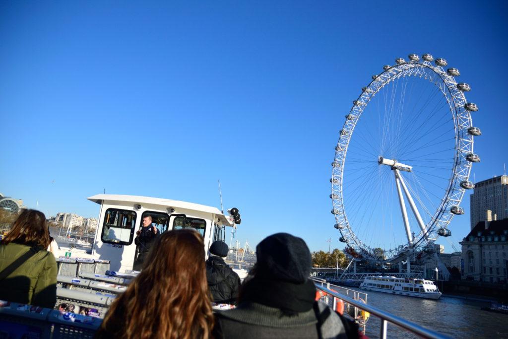 船上から見たロンドン・アイ