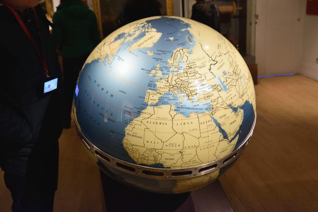 グリニッジにあった地球儀