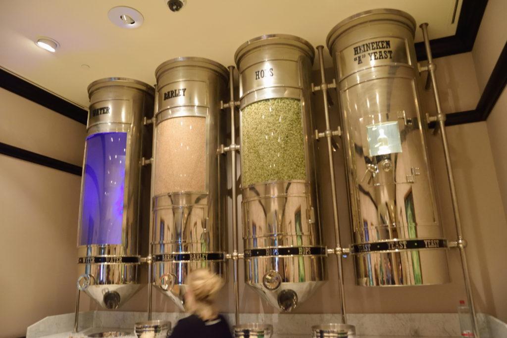 ビールの原料に関する展示