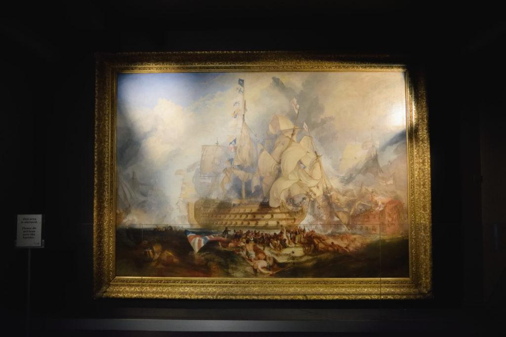 海洋博物館にあった船を描いた絵画