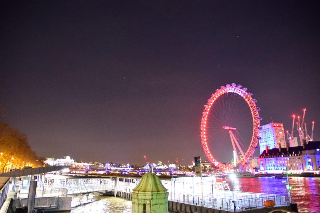 ロンドンアイ周辺の夜景