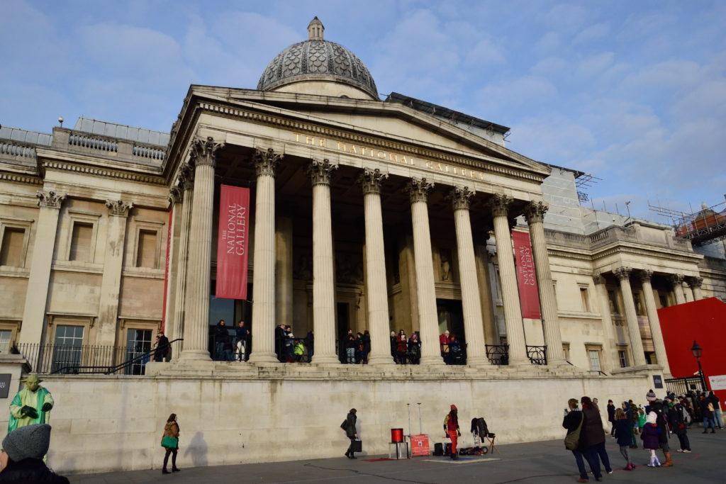 ロンドン・ナショナルギャラリーの外観