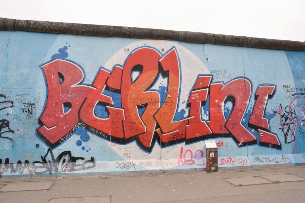ベルリンの文字が入ったアート