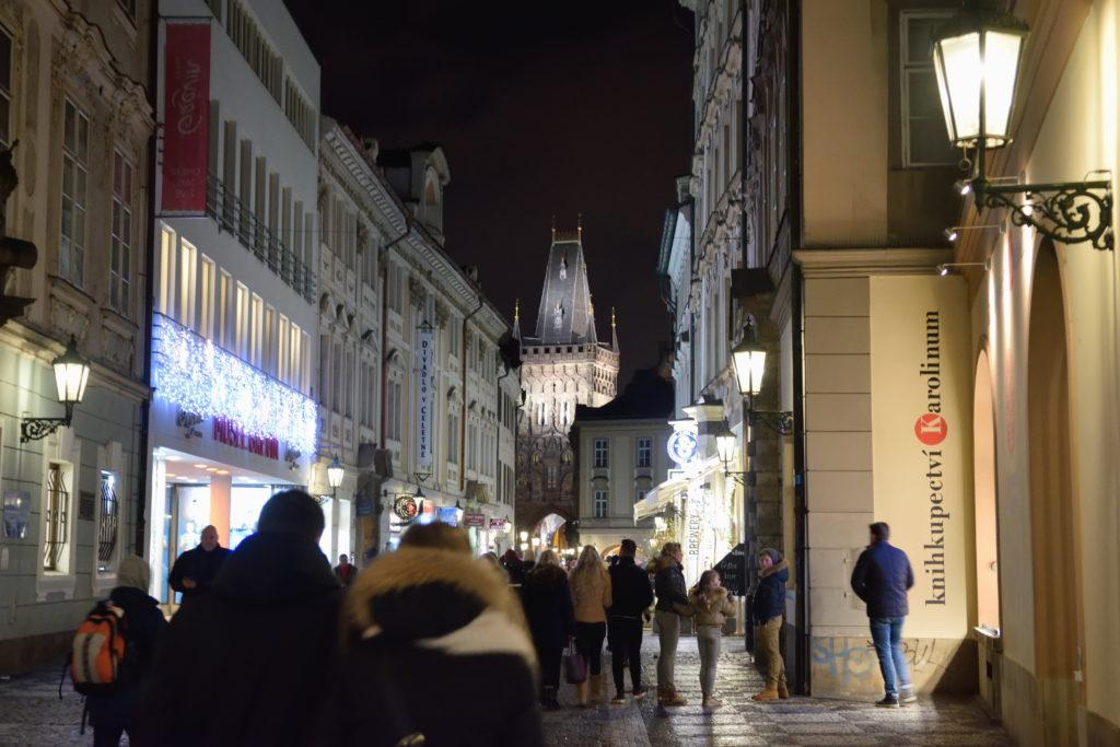 プラハ市街地の街並み