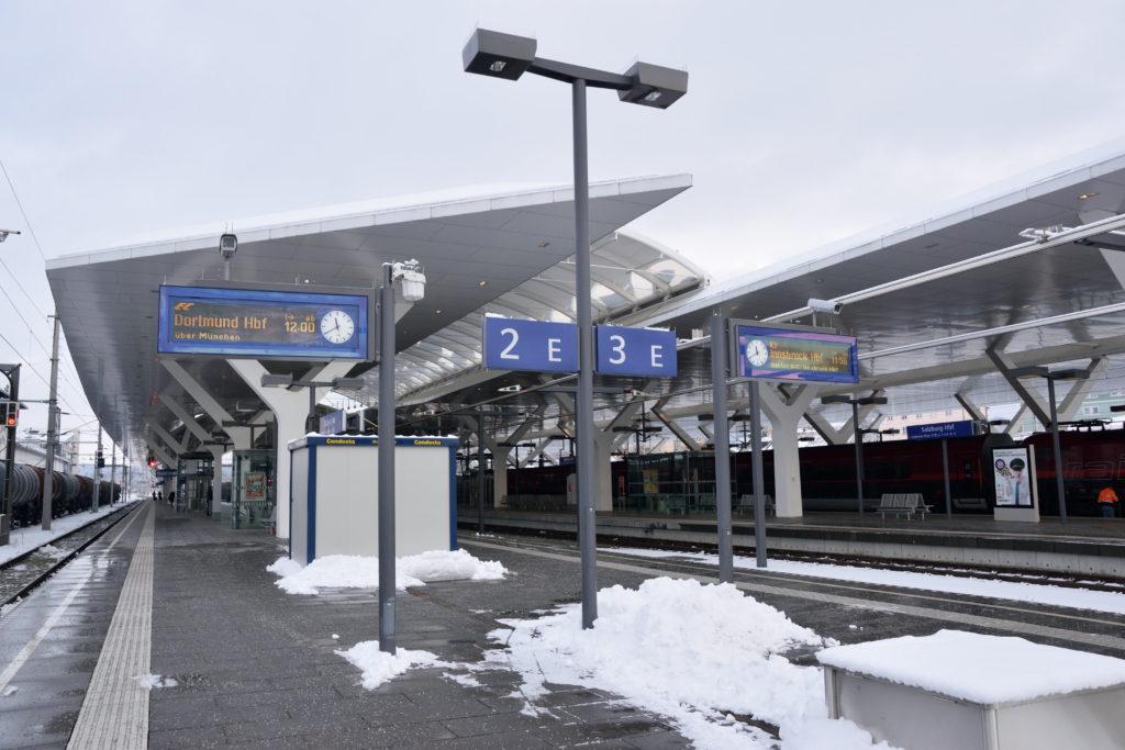 ザルツブルク中央駅のホーム