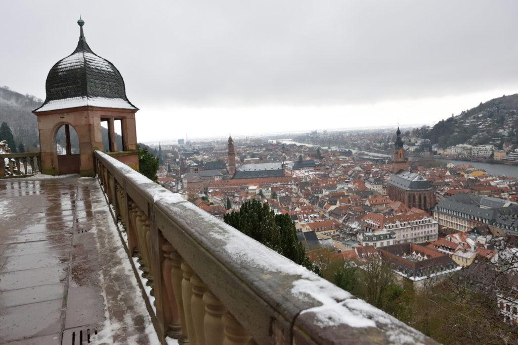 ハイデルベルク城から見下ろした市街の街並み