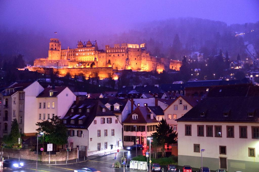 夜のハイデルベルク城