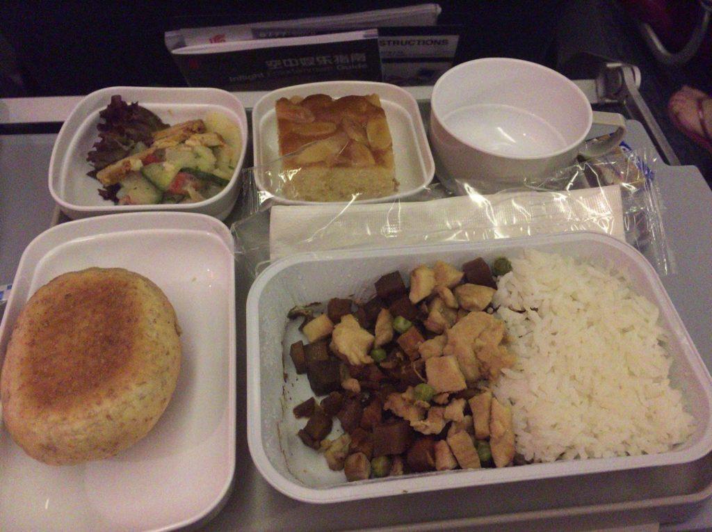 エア・チャイナ、ドイツ発便の機内食