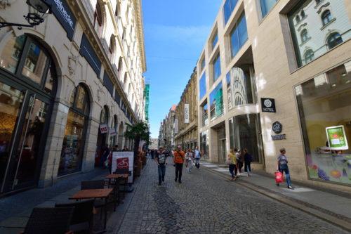 ライプツィヒの中心街の街並み
