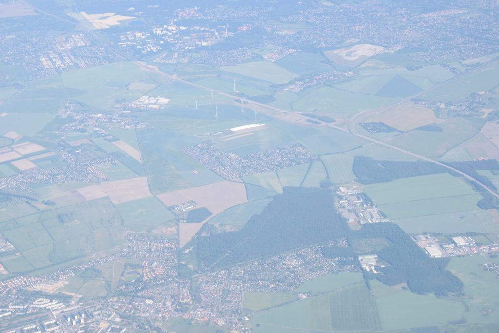ポーランド上空からの眺め