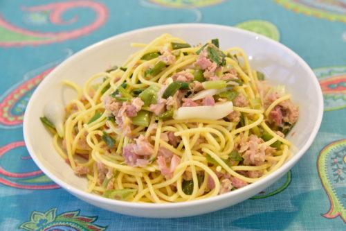 自炊したスパゲティ