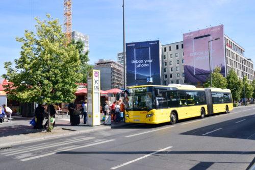テーゲル空港行きのバスのりば