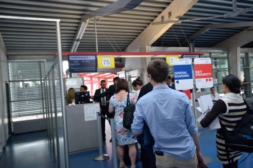 ベルリン・テーゲル空港Dターミナルの搭乗口