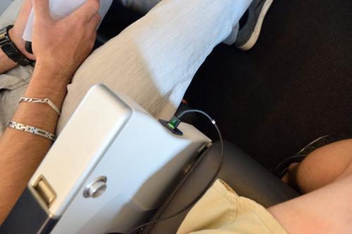座席のUSBポート